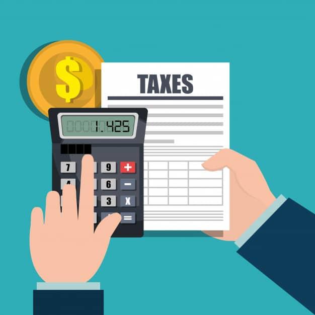 איור חישוב מיסים